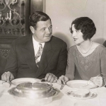 Babe Ruth and Claire Dining