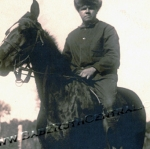 Babe Ruth on Horse Back
