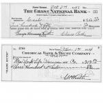 Babe Ruth cancelled checks