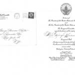 Eisenhower Invitation to Claire Ruth