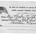 Babe Ruth's Catholic Card