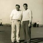 Babe Ruth Golfing With a Friend