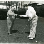 Babe Ruth shooting for start in golf game