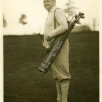 Babe Ruth with Golf Bag
