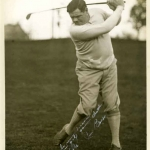 Babe Ruth Taking a Golf Swing