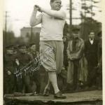 Babe Ruth Taking a Golf Swing