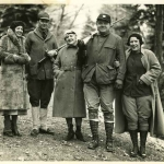 Babe Ruth and Claire Hunting With Friends