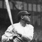 Babe Ruth Hitting With the Yankees