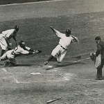 Babe Ruth Sliding Into Home