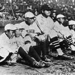 Babe Ruth with young Japanese Baseball Players