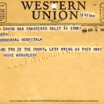 Mike McSorley Telegram to Claire Ruth