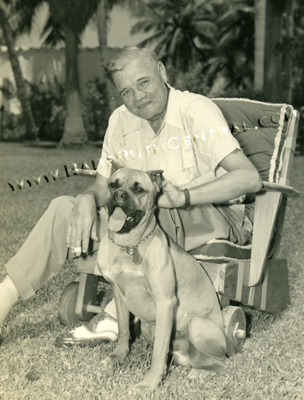 Babe Ruth With the Family Dog - Babe Ruth Central: Babe Ruth, Babe ...