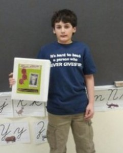 Fan displays his Babe Ruth report and Inspirations Tshirt