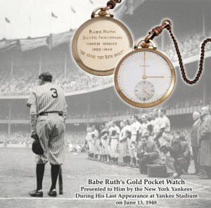 Babe Bows Out Watch 300x296 1923 Babe Ruth Watch Goes Big.....A Bigger One Coming Soon