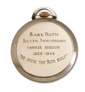 Babe Ruth Watch Back