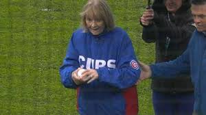 Julia Ruth Stevens Cubs First Pitch- Tributed to MLB and the Chicago Cubs