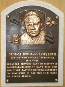 Ruth Hall of Fame Plaque