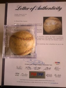 Babe Ruth signed ball