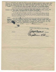 Babe Ruth 1922 Contract With Yankees Signed Page