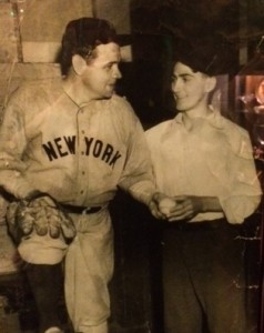 Babe Ruth and Lenny Bielski