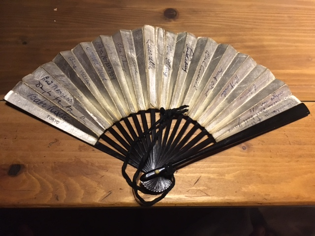 1934 Japanese fan signed by US Baseball Team