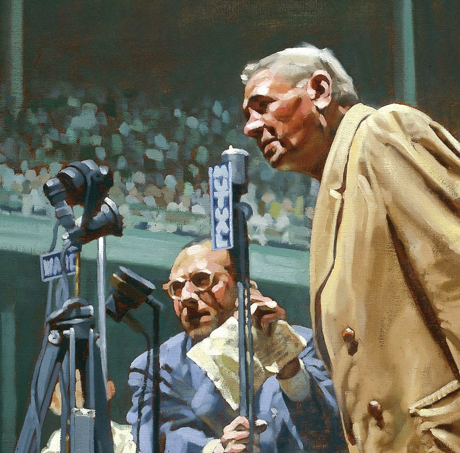 e973076f1d5d1 Artist Graig Kreindler s rendering of Babe Ruth s speech on Babe Ruth Day